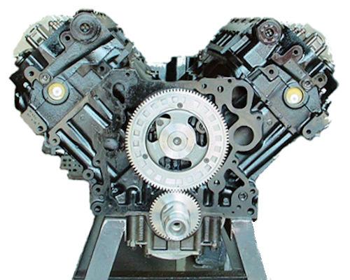 International T444E Long Block Engine
