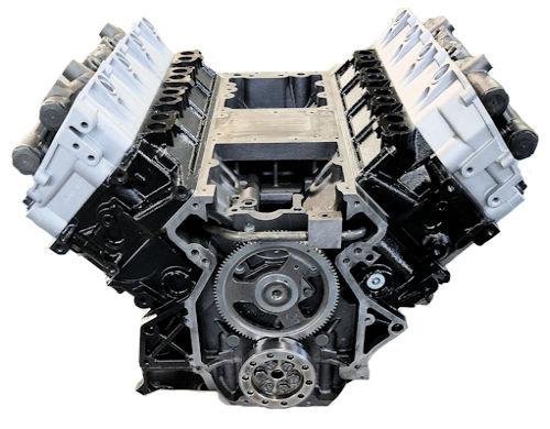 6.0L Ford Long Block Engine Vin Code P - Reman